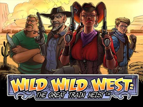 Wild Wild West: The Great Train Heist Slot logo